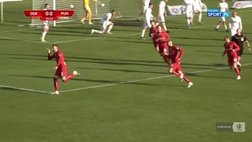 Odra Opole - Puszcza Niepołomice 1:0. Gol Piotra Żemły