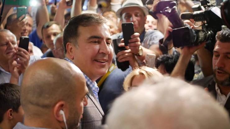 Saakaszwili wrócił na Ukrainę. Nowy prezydent przywrócił mu obywatelstwo