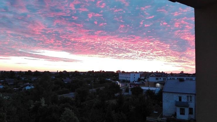 Wyjątkowo piękny zachód słońca w Chojnicach