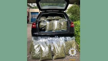 Po dach zielonego suszu - 30 kilo marihuany w mitsubishi. Wśród zatrzymanych uczeń szkoły policyjnej