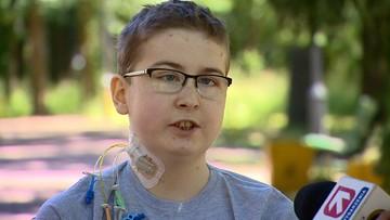Podpięty do aparatury czekał dwa lata na przeszczep serca. Otrzymał go tuż przed 14. urodzinami