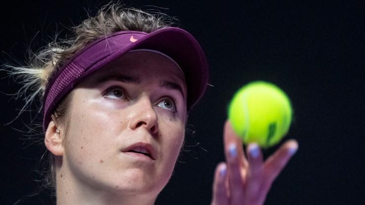 WTA Finals: Broniąca tytułu Switolina pierwszą finalistką
