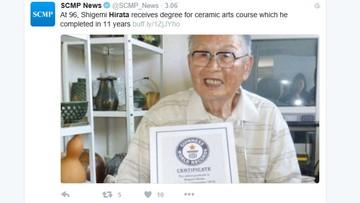96-letni Japończyk najstarszym absolwentem uniwersytetu