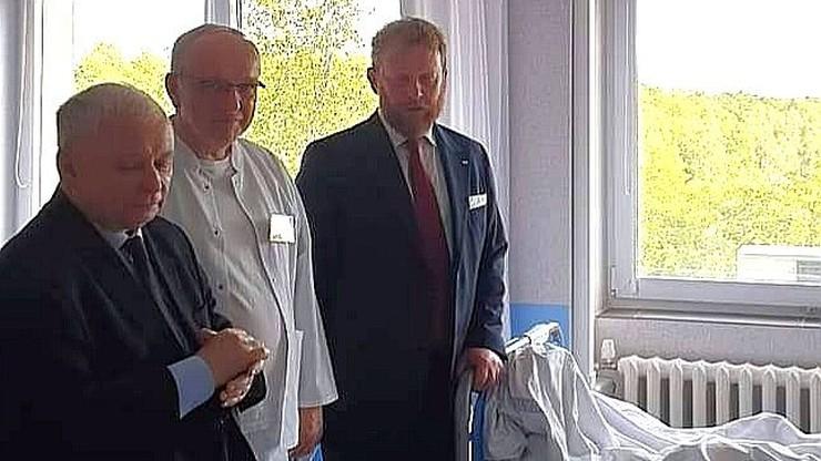 Prezes PiS odwiedził w szpitalu górników rannych w wypadku w kopalni Murcki-Staszic