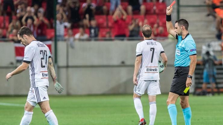 Dwie czerwone kartki, wygrana i brak awansu. Legia odpadła z eliminacji Ligi Mistrzów