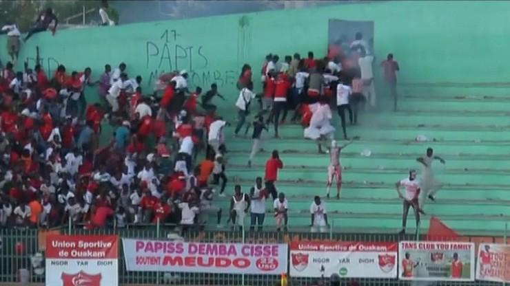 Wybuch paniki na stadionie w Dakarze. Wielu zabitych i rannych