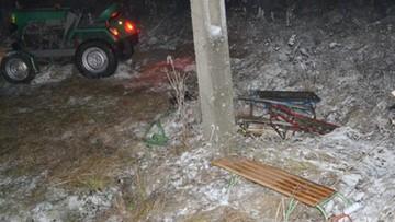 Wypadek podczas kuligu. Ciągnik przygniótł 16-latka