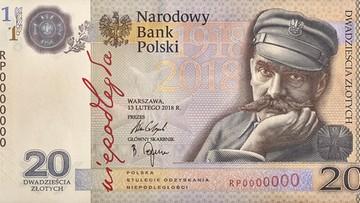 NBP wypuścił kolekcjonerski banknot 20-złotowy z Piłsudskim. Na stulecie odzyskania niepodległości