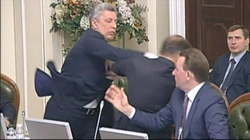 """Bójka w ukraińskim parlamencie. Powodem """"instrukcje"""" z Kremla"""