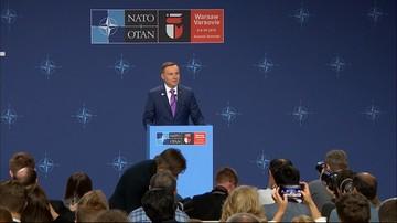 Prezydent Duda: decyzje szczytu NATO są korzystne dla Sojuszu i dla Polski