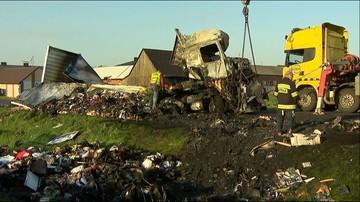 Czołowe zderzenie ciężarówek. Są ofiary śmiertelne