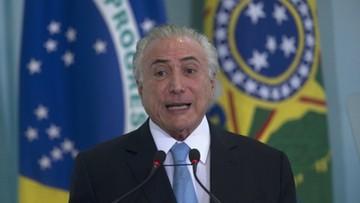 Demonstracje w Brazylii. Mieszkańcy wzywają prezydenta do ustąpienia z urzędu