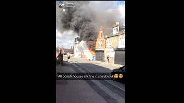 """""""Wszystkie polskie domy w ogniu"""" - napisał pod zdjęciem płonącego domu, w którym mieszkali Polacy"""