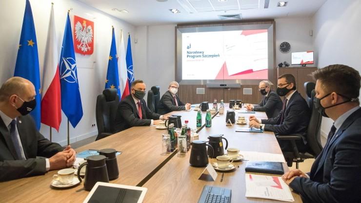 """Prezydent o programie szczepień. """"Po pierwsze zdrowie Polaków"""""""