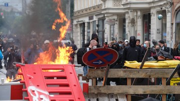 """Płonące barykady w Lipsku. """"Wszyscy jesteśmy LinX"""""""