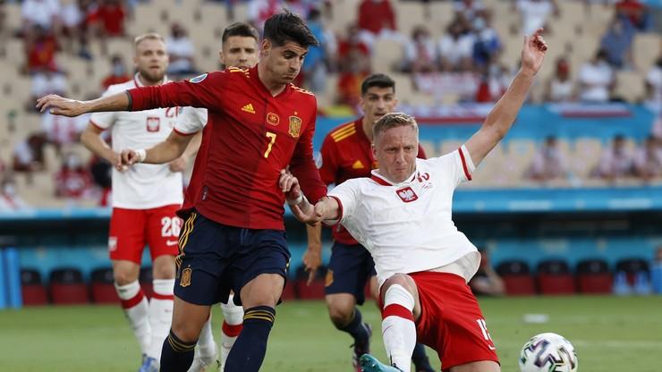 Polska - Hiszpania 0:1. Gol Alvaro Moraty