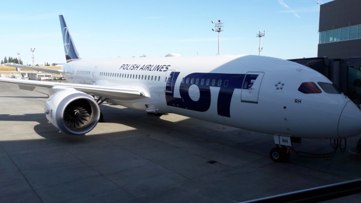 PLL LOT odebrał ósmego Boeinga Dreamliner