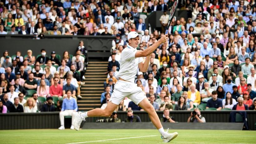 Wimbledon: Hubert Hurkacz - Roger Federer. Skrót meczu (WIDEO)