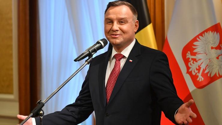 Prezydent Duda do belgijskiej Polonii: dzięki waszej postawie jesteśmy tu szanowani