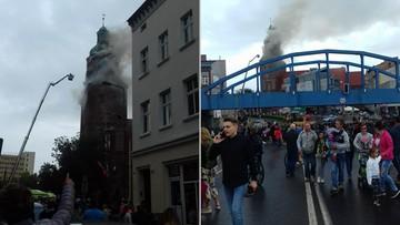 [AKTUALIZUJEMY] Pożar zabytkowej katedry w centrum Gorzowa Wielkopolskiego. Pali się wieża
