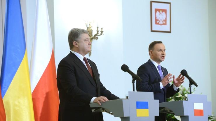 """""""Nigdy nie pogodzimy się z naruszeniem integralności Ukrainy"""". Duda po spotkaniu z Poroszenką"""