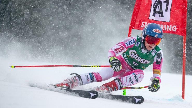 Alpejski PŚ: Shiffrin prowadzi na półmetku slalomu giganta w Semmering