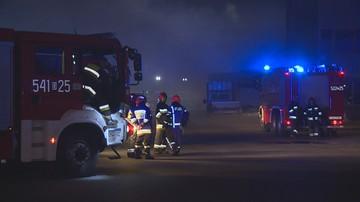 Pożar hali magazynowej we Wrocławiu. Składowane były tam śmieci