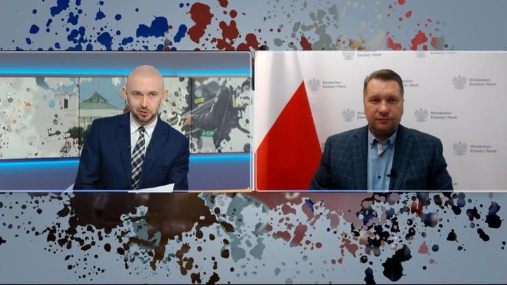 """Podwyżki dla nauczycieli i reaktor atomowy. Minister Przemysław Czarnek w """"Graffiti"""""""