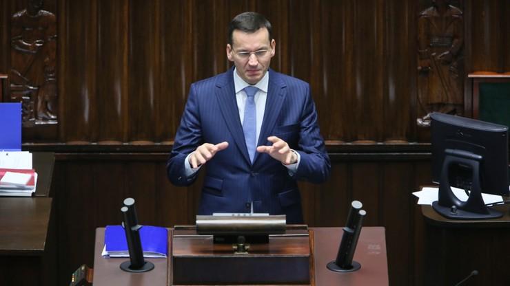 Morawiecki: przyjęty deficyt jednym z najniższych w ostatnich latach