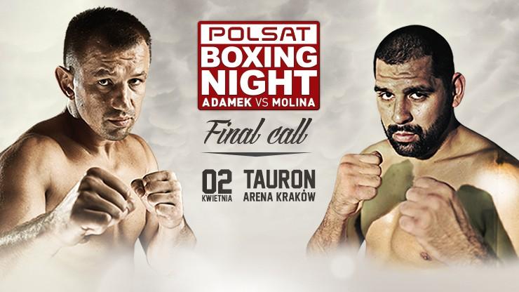 Polsat Boxing Night: Adamek vs Molina. Kup bilety