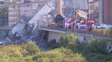 Są zarzuty po zawaleniu mostu w Genui. Śledztwem objęto 20 osób i firmę zarządzającą drogą