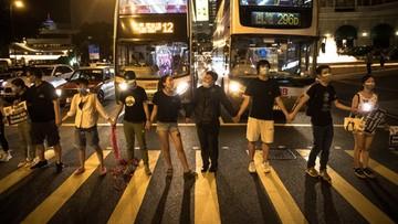 Tysiące Hongkończyków utworzyło żywy łańcuch. W rocznicę Szlaku Bałtyckiego