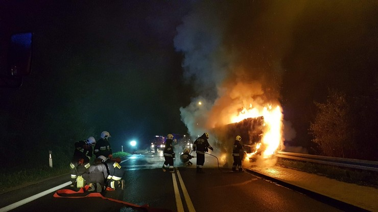 Małopolska: pożar auta dostawczego [ZDJĘCIA]