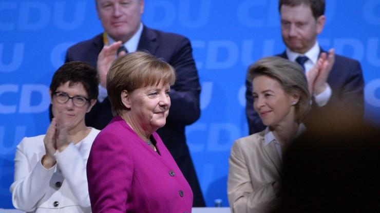 """CDU Angeli Merkel poparła """"wielką koalicję"""" z SPD"""