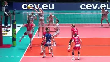 Sprytne zagranie Aleksandra Śliwki w meczu z Trentino