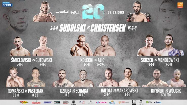 Babilon MMA 20: Kto zostanie kolejnym mistrzem organizacji?