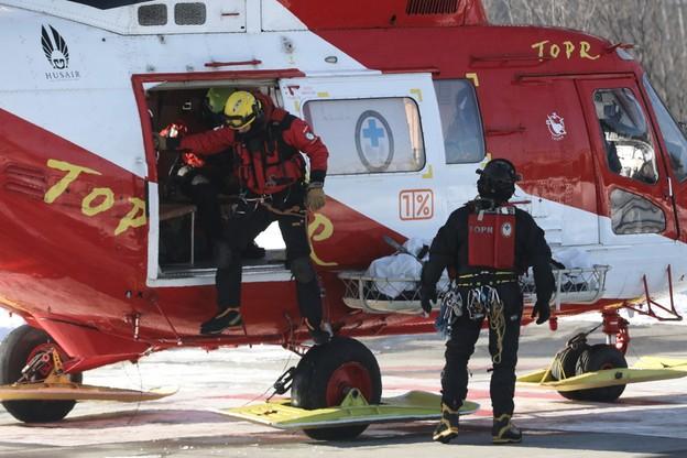 Ciało turysty przetransportowano do Zakopanego śmigłowcem