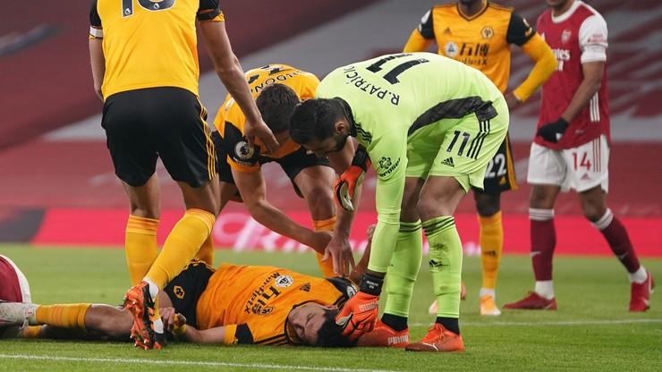 Raul Jimenez w szpitalu! Ma poważny uraz głowy po zderzeniu z Davidem Luizem