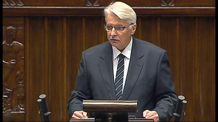 Szef MSZ: polska polityka zagraniczna odzyskuje podmiotowość