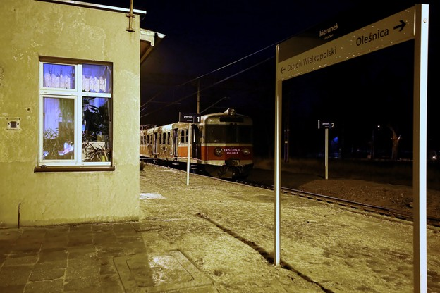 Pożar pociągu w Wielkopolsce