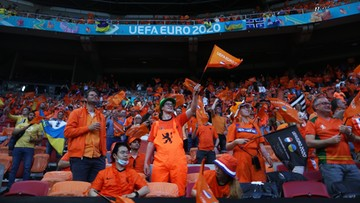 Euro 2020: Kibice w Amsterdamie okazali wsparcie Eriksenowi