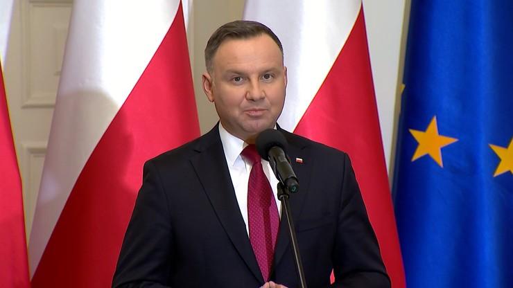 """""""Relacje Polska-Izrael ważniejsze od słów ministra Kaca"""". Duda w izraelskiej telewizji"""