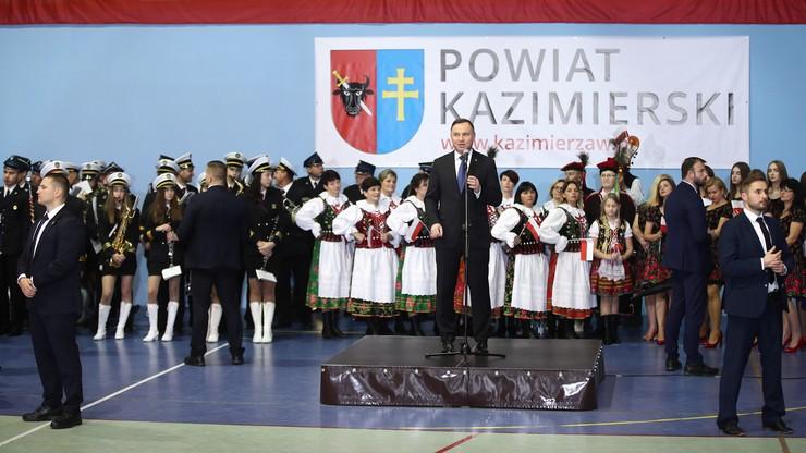 Prezydent w Kazmierzy Wielkiej