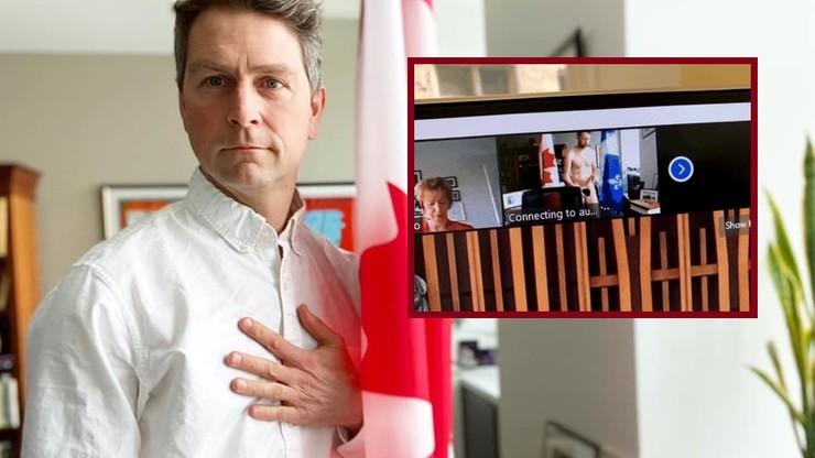 Wpadka kanadyjskiego posła. Wystąpił nago podczas wirtualnego posiedzenia
