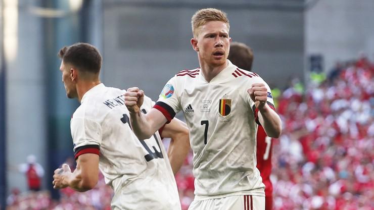 Euro 2020. Dania - Belgia 1:2. Gol Kevina De Bruyne
