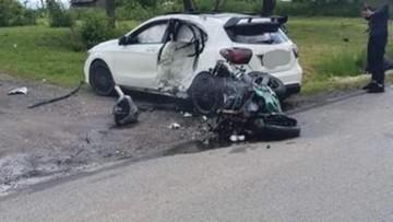 Śmierć motocyklisty. Zderzył się z autem