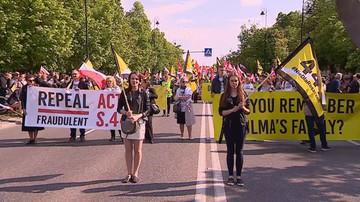 """Marsz Stop 447 przeszedł przed ambasadę USA. """"Nie dla roszczeń żydowskich"""""""