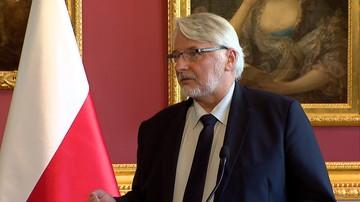 Waszczykowski: musimy usiąść do poważnej rozmowy z Niemcami w sprawach reparacji