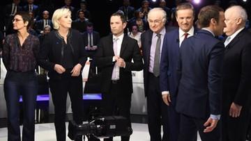 Debata prezydencka we Francji. Le Pen zaatakowana za antyunijne poglądy