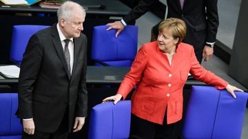 Merkel pozytywnie o dalszej współpracy z szefem CSU. Mimo wcześniejszego sporu o politykę migracyjną